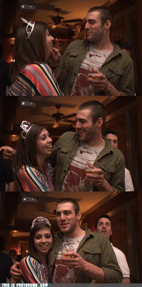 awesome,couple,cute,laugh,panels,photobomb