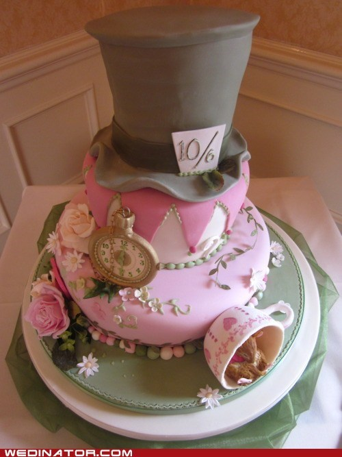 alice in wonderland,cakes,funny wedding photos,Hall of Fame,wedding cakes