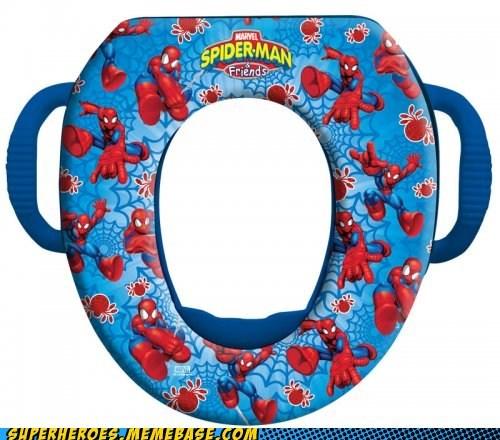 Random Heroics,shot web,Spider-Man,toilet