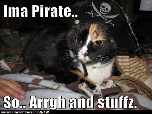 Ima Pirate..  So.. Arrgh and stuffz.