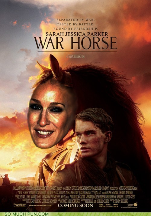 face gag Hall of Fame horse matt damon resemblance running joke sarah jessica parker War Horse - 5927380736