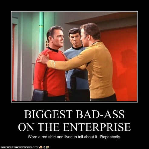 April Fools Day Badass Captain Kirk enterprise james doohan Leonard Nimoy red shirt scotty Shatnerday Spock Star Trek William Shatner
