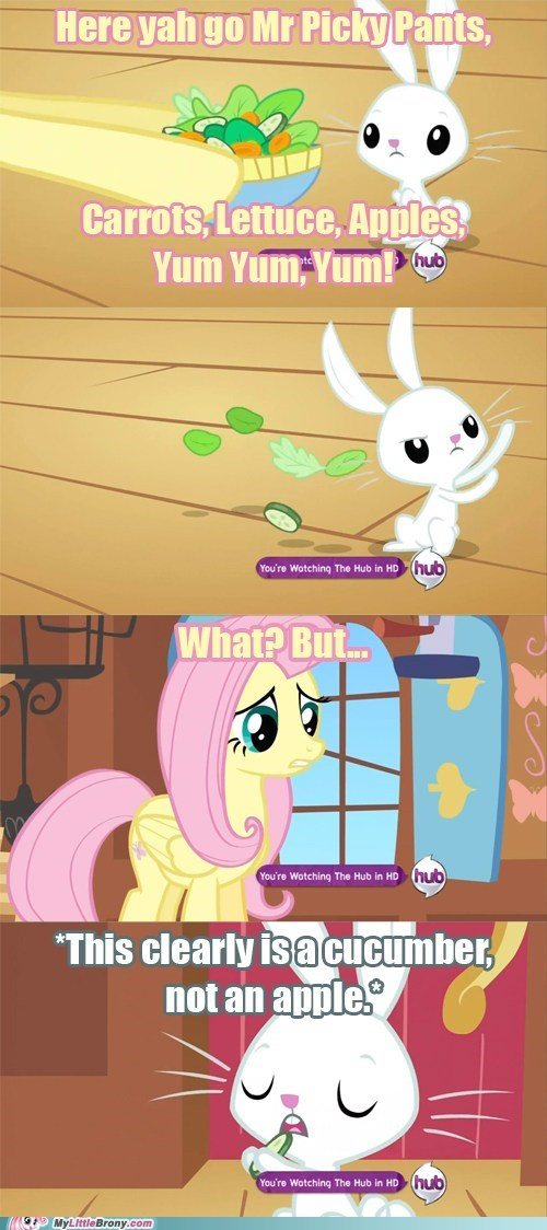 angel apples comics fluttershy picky veggies - 5927925504