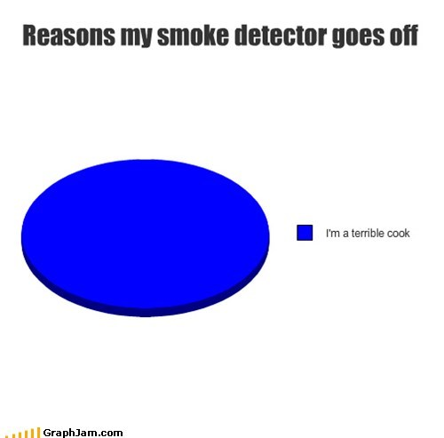 burning cook Pie Chart smoke alarm