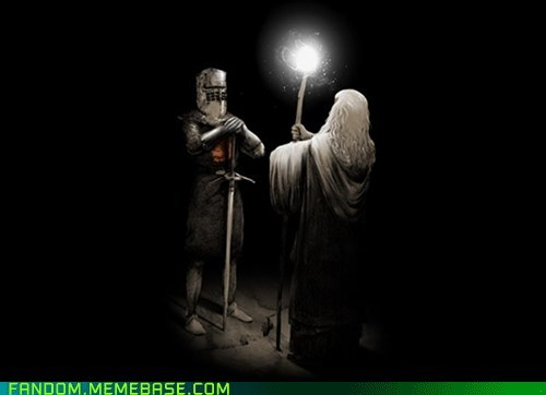 black knight books Fan Art fantasy gandalf Lord of the Rings monty python movies - 5929706240