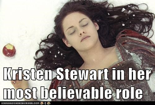 believable,dead,kristen stewart,poisoned,role,snow white and the huntsman