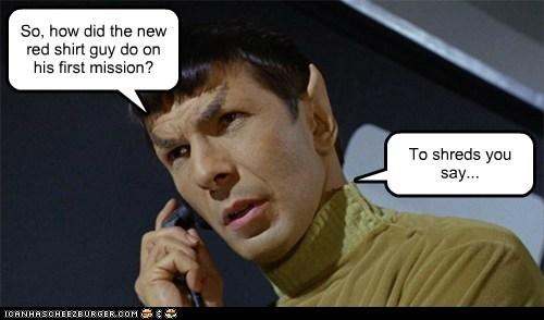 Good News Everyone Leonard Nimoy professor farnsworth red shirt Star Trek - 5929892352