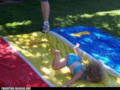 faceplant,slip n slide