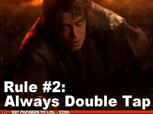 anakin skywalker,double tap,hayden christensen,sith,star wars,Zombieland