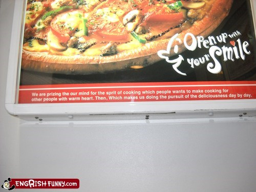 delicious engrish pizza restaurant - 5930633216