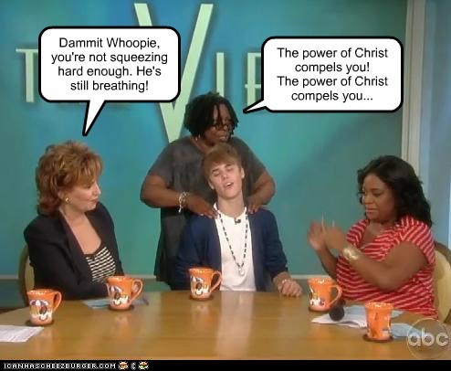 actor celeb funny justin bieber Music the view TV whoopi goldberg - 5930711040
