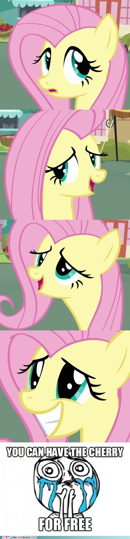 bits,cherry,fluttershy,for free,TV