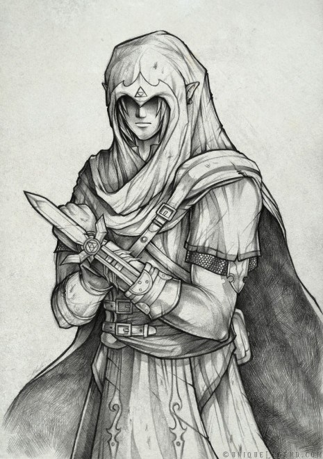 assassins creed,best of week,crossover,Fan Art,link,the legend of zelda,video games