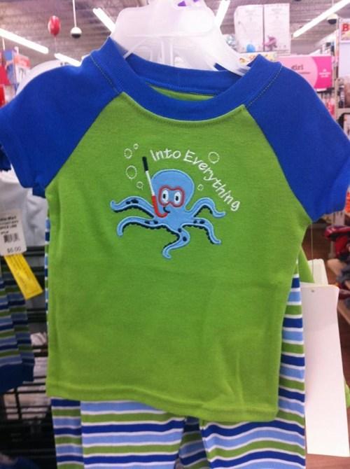 baby shirt octopus T.Shirt - 5931952640