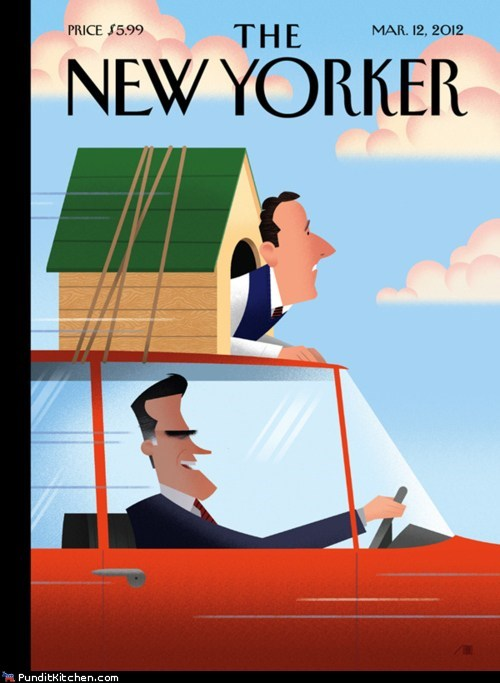 dogs,Mitt Romney,political pictures,Rick Santorum,seamus,the New Yorker