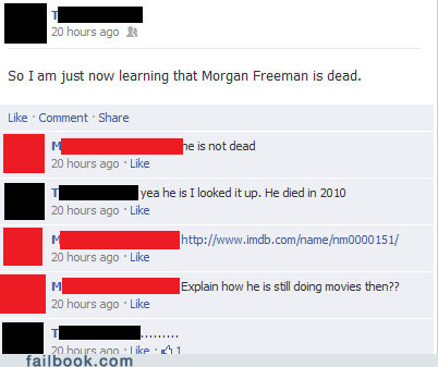 celeb Death Morgan Freeman rumors - 5934023168