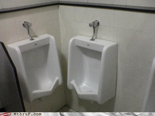 bathroom close together privacy toilet urinal