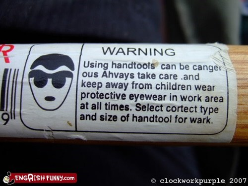 engrish hammer safety tool work