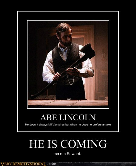 Abe Lincoln,edward,hilarious,hunter,vampire
