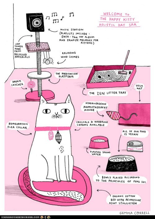 art Cats cute drawing gemma correll healthy holistic spa spas - 5934463488