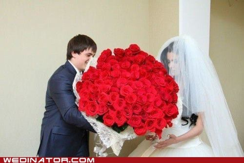 bouquet,funny wedding photos,roses