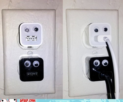 charger derp googly eyes plug in USB - 5934491648