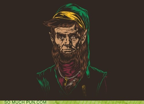 abraham lincoln,Hall of Fame,homophone,lincoln,link,literalism,surname,the legend of zelda