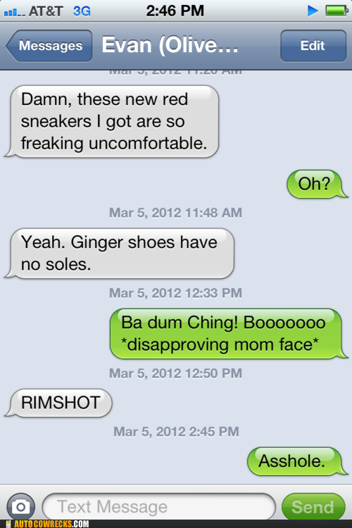 gingers jokes puns shoes sole soul - 5934553600