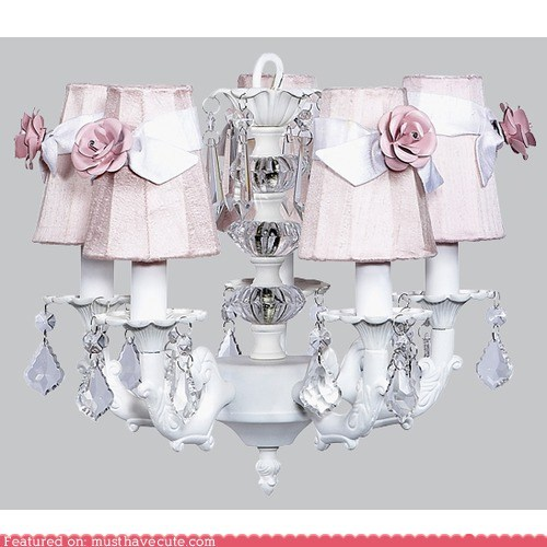chandelier cute flowers frilly girly kawaii light - 5934576384