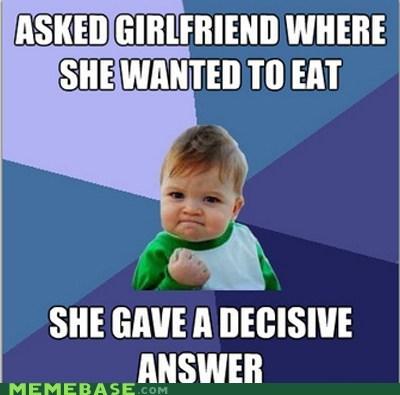 decisions girlfriend restaurant success kid - 5934618368