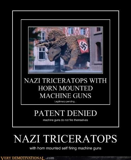 hilarious machine guns nazi triceratops - 5934637824