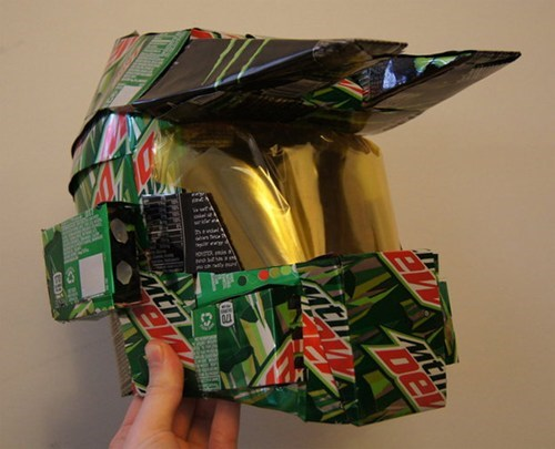halo,helmet,master chief,mountain dew,pop cans,soda cans