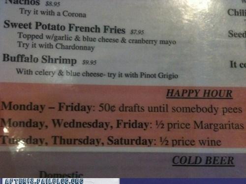 bar cheap happy hour menu restaurant sale - 5934702080