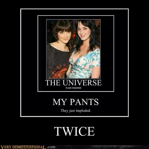 hilarious katy perry pants twice Zoey Deschanel - 5934829056