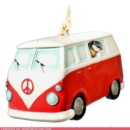 birdhouse,bus,camper,ceramic,van,VW