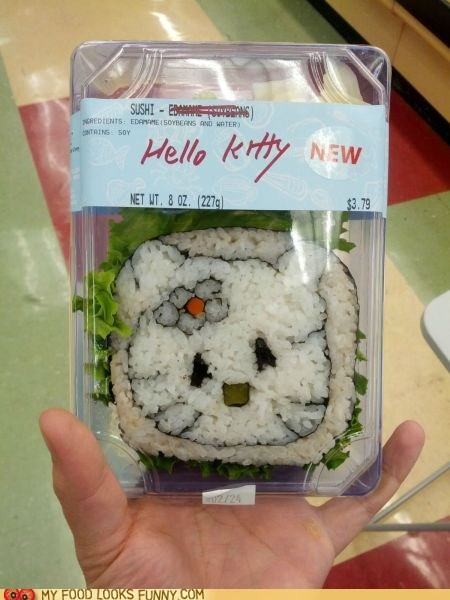 derp hello kitty nori rice seaweed sushi - 5934921984
