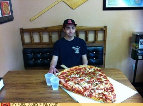 diet giant huge pizza slice