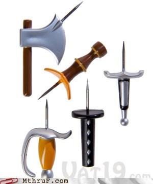 medieval weapons pins tacks thumbtacks - 5934932736