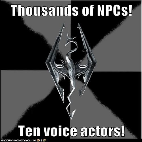 Thousands of NPCs! Ten voice actors!