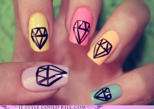 cool accessories diamonds nail art nails - 5934993920