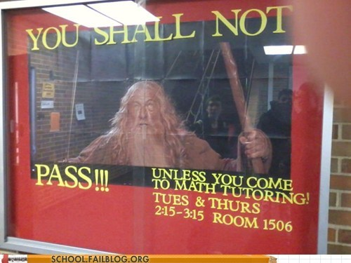 gandalf Lord of the Rings math tutoring you shall not pass