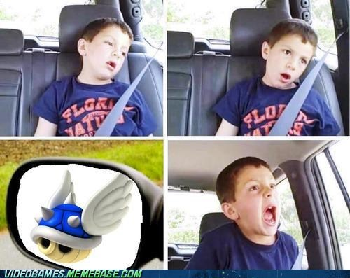 blue shell,david meets dentist,Mario Kart,meme