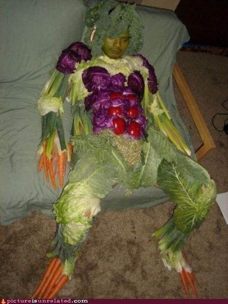 couch potato suit vegetable wtf