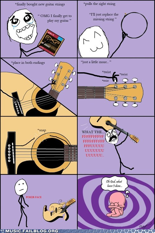 comic guitar rage comic strings tuning - 5935507968