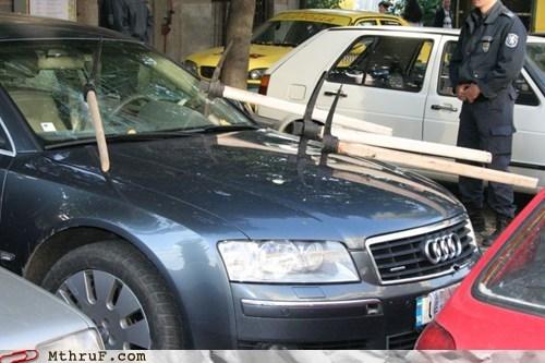 car damaged car miners pick axe vandalism - 5935602176