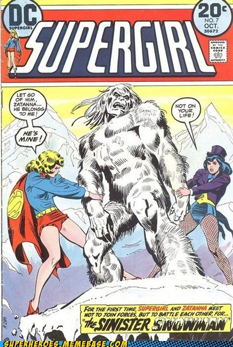 date Sexy Ladies snowman Straight off the Page supergirl wtf zatanna - 5935952384