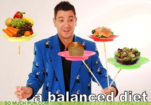 balance,balanced,balancing,diet,double meaning,literalism