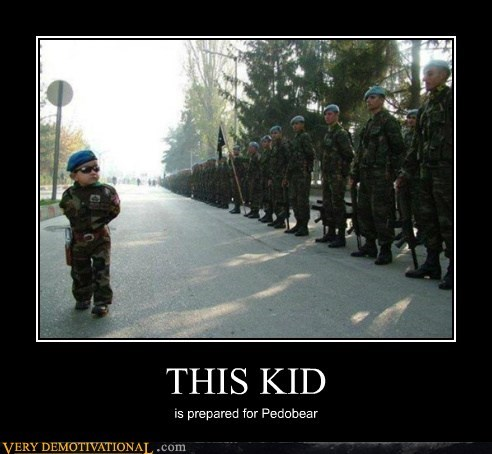 army hilarious kid pedobear wtf - 5936575744