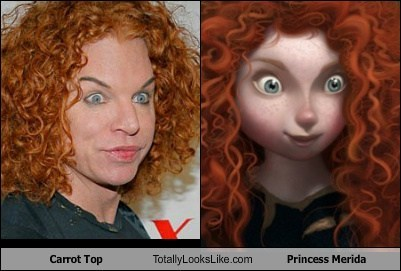 brave,carrot top,comedian,funny,Movie,Princess Merida,TLL
