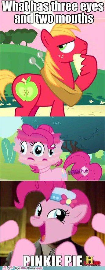 big mac meme physics pinkie pie riddle - 5936647936